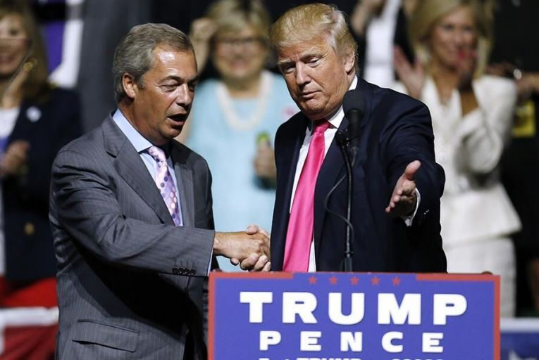 Farage and Trump in Mississippi Pic: Getty