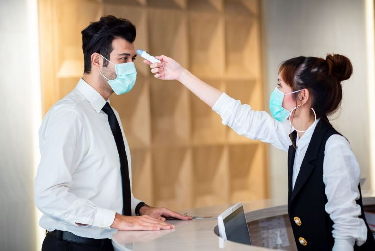 There is no obligation on employers to introduce temperature screening at present but that could change in line with public health advice. Picture: Getty