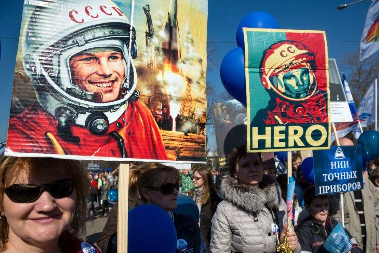 Yuri Gagarin is still a hero in Russia. Picture: Getty