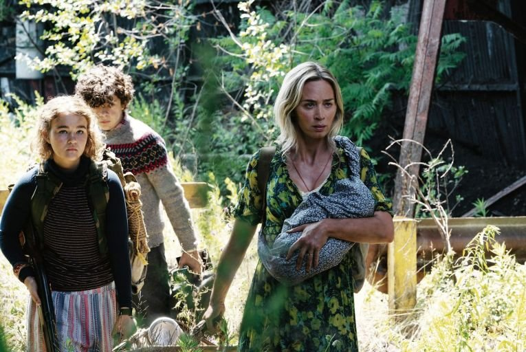 Millicent Simmonds, Noah Jupe and Emily Blunt in A Quiet Place which serves as a reminder of the big screen's irresistible draw
