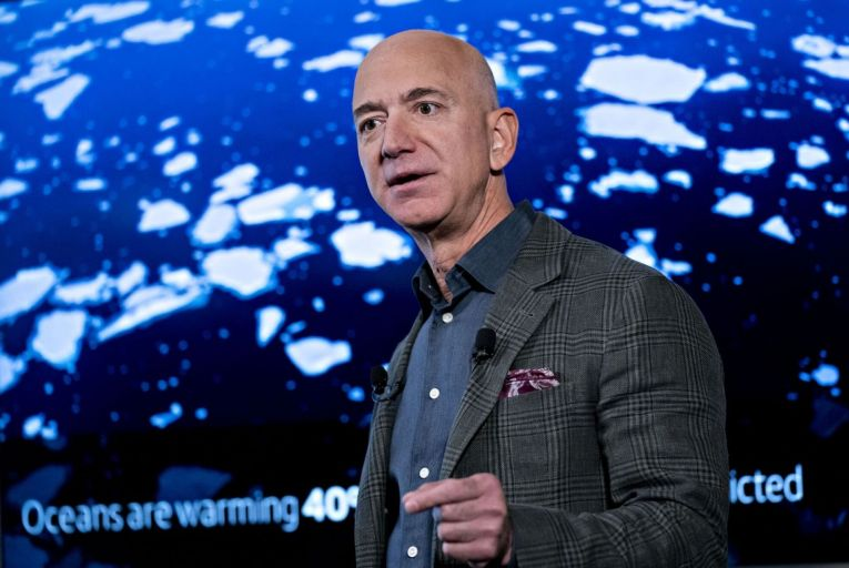 Jeff Bezos, the Amazon founder, whose climate promises sit uneasily with the firing two employees who had publicly criticised the company's impact on climate change