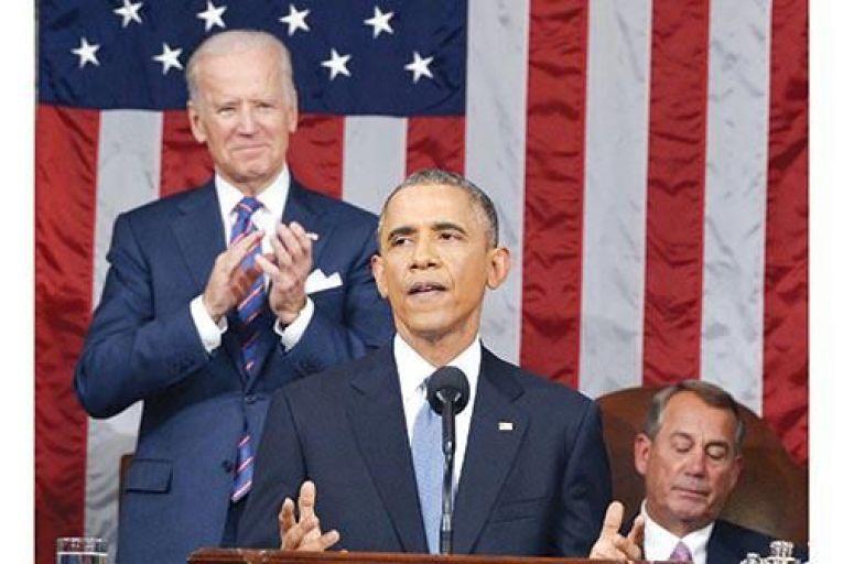 US president Barack Obama delivers the State of the Union address last week as vice-president Joe Biden applaudsGetty
