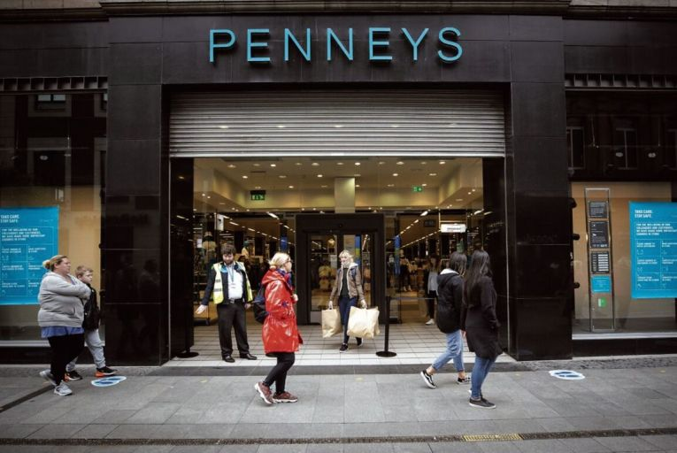 The flagship Penneys store on Dublin's Henry Street: retails businesses are waiting to see if they will be allowed to reopen at the start of December when the current lockdown ends