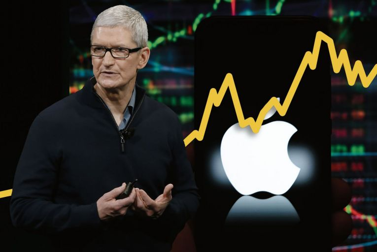 Tim Cook, chief executive of Apple. The company paid an effective 17 per cent tax on income in 2020, which was much higher than the average 3.5 per cent it was paying between 2010 and 2017. But there is no knowing how much of this tax is paid into the Irish exchequer Picture: Getty