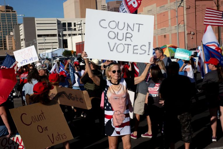 Supporters of Donald Trump protest last week: a much greater effort is needed to understand his appeal to American voters