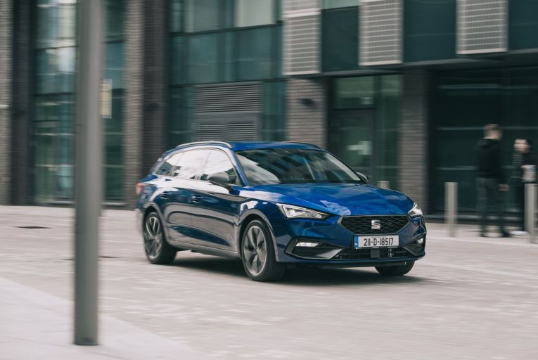 The Seat Leon Sportstourer eHybrid starts from €32,825 on-the-road including SEAI grant