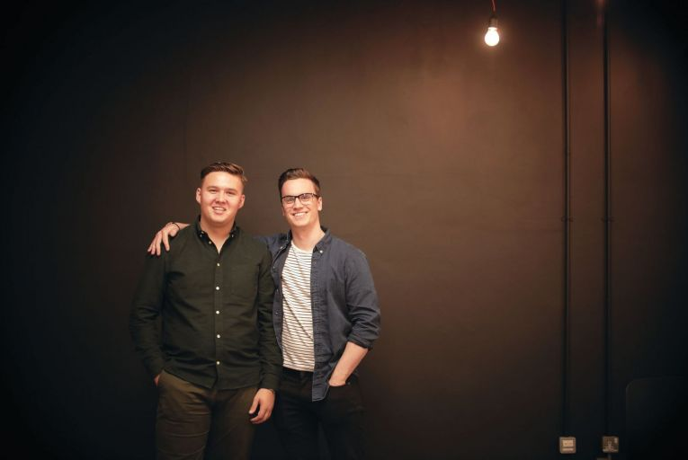 Adam Dalton and Evan Darcy, founders of Robotify, an online platform that teaches children how to code, focusing on robots rather than computers