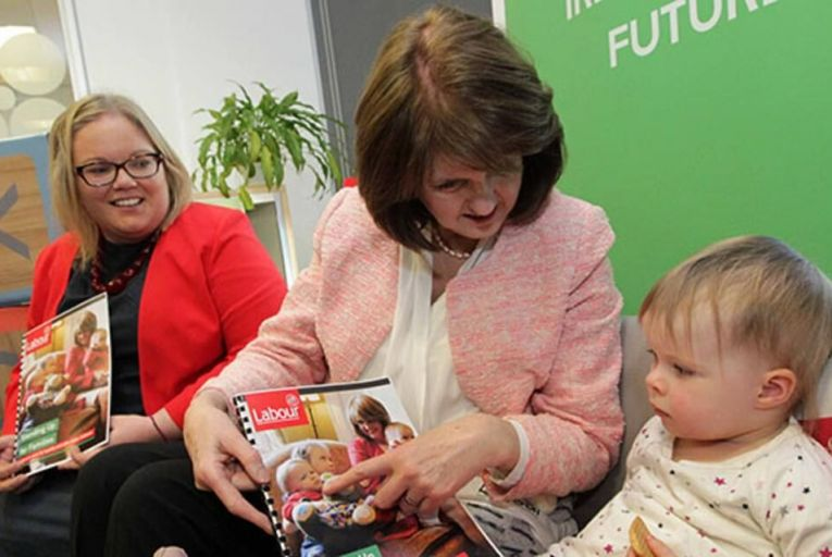 Joan Burton launches Labour\'s plan for quality and affordable childcare Pic: RollingNews.ie