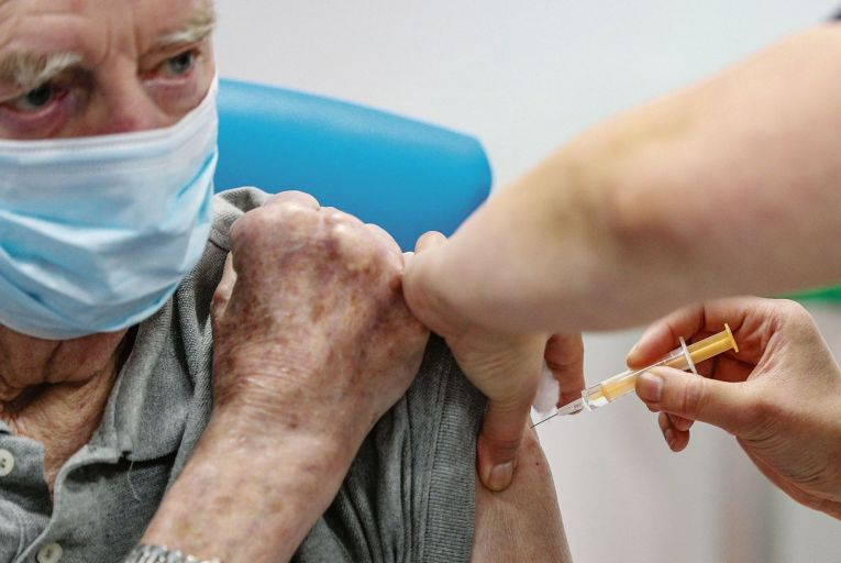 Around 238,000 frontline healthcare workers, nursing home residents and over 85s have got their first vaccine jab