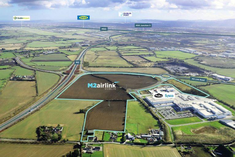 Large zoned land site beside M2 Cherryhound Interchange on market for €18m