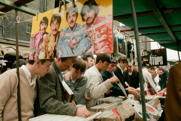 A record stall on London's Carnaby Street. Picture: Ted Spiegel/Corbis/Getty