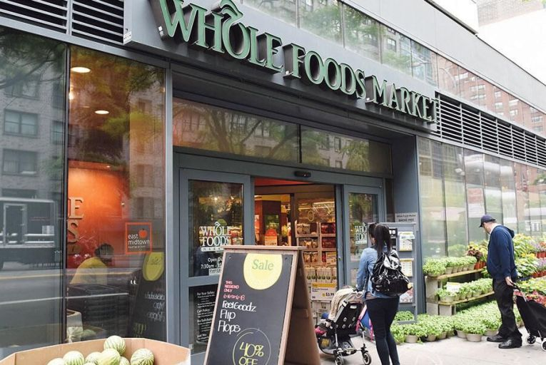 The Whole Foods Market in New York: Amazon announced it would acquire the upscale grocery chain Whole Foods in a move bound to shake up the sector worldwide Pic: Bloomberg