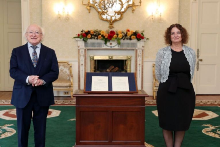 HE Lironne Bar Sadeh was confirmed as Israel's ambassador to Ireland by President Michael D Higgins on Wednesday. Picture: Department of Foreign Affairs