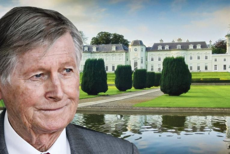Dr Michael Smurfit, inset, The K Club, which Smurfit bought with Gerry Gannon Picture: Feargal Ward