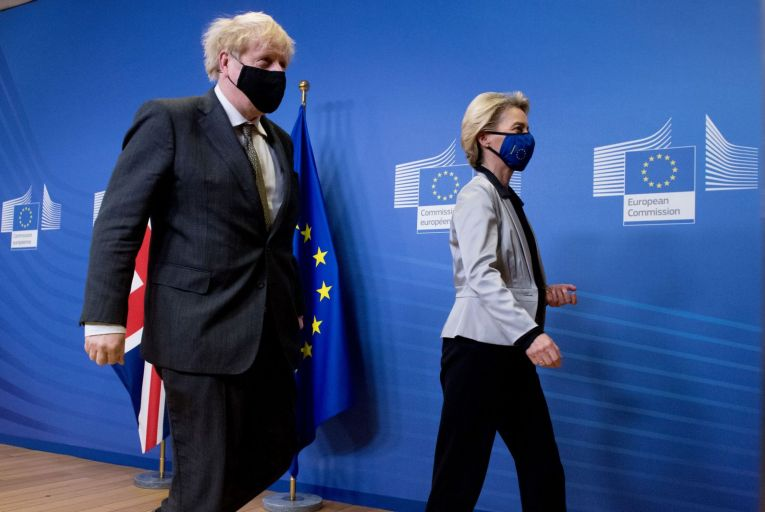 Boris Johnson, the British prime minister, and Ursula von der Leyen, the president of the European Commission. Picture: Getty