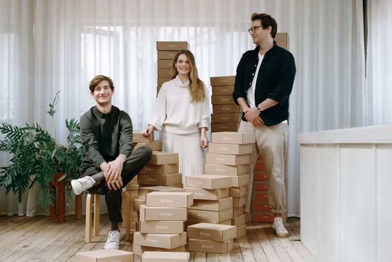 Mark Legge, Ciara Flood and Jonathan Legge, founders of &Open, the corporate gifting start-up. Picture: Linda Brownlee