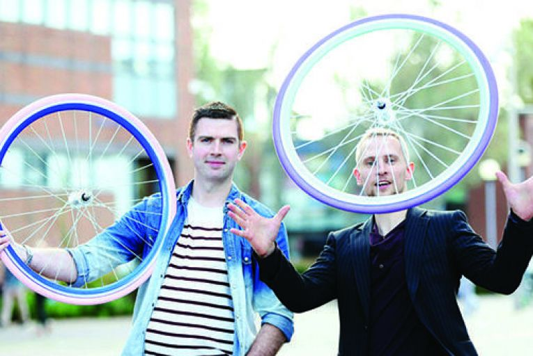 Cycle start-up turns wheels funky