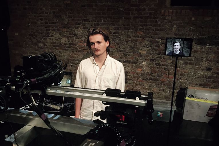 Jack Gleeson is Mark O'Connell's avatar in To Be a Machine (Version 1.0). Photo: Ben Kidd