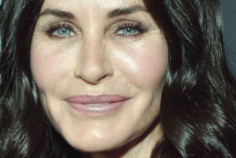 Courteney Cox: the actor famously said she had ruined her face with plastic surgery and was giving it up