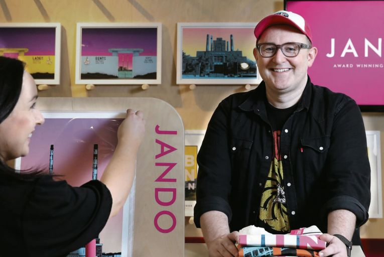 Owen McLoughlin, one half of the multi-award-winning Irish printmakers Jando: 'Music and art are inextricably linked'
