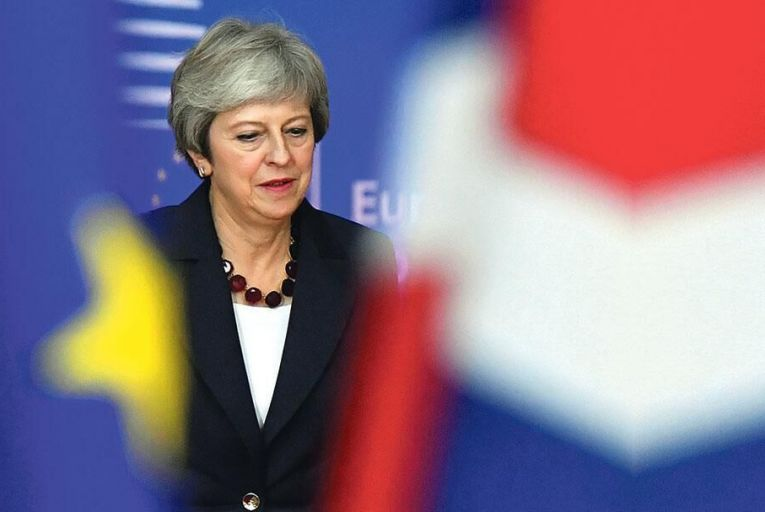 Theresa May's unflagging support for her own Brexit deal seems to know no bounds Picture: Getty
