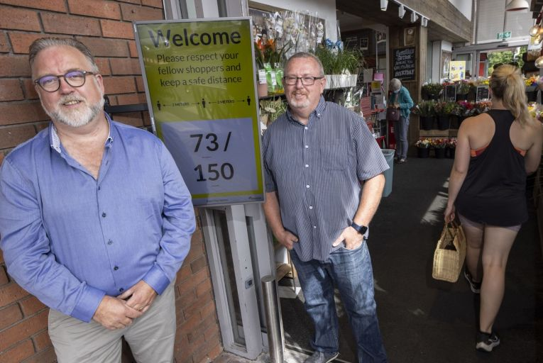 Ron Edgerton of Redzone and Dermot Daly of Tapadoo created TruCount. Picture: Fergal Phillips