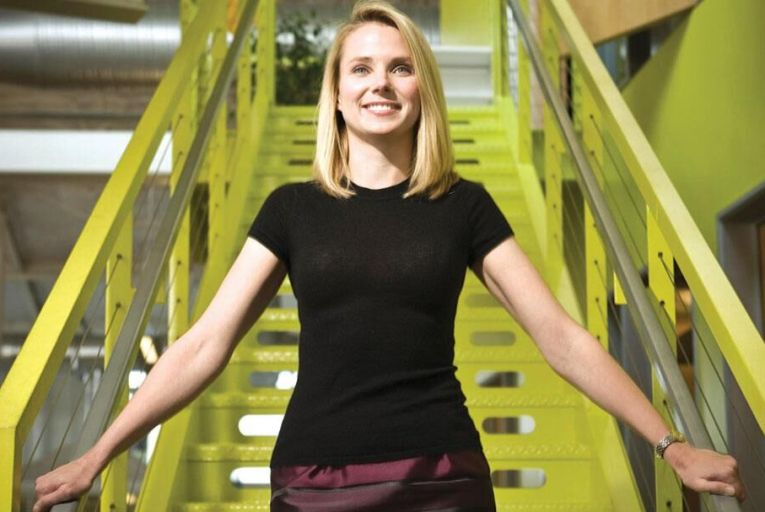 Marissa Mayer, chief executive of Yahoo: tarnished record following cyber attack