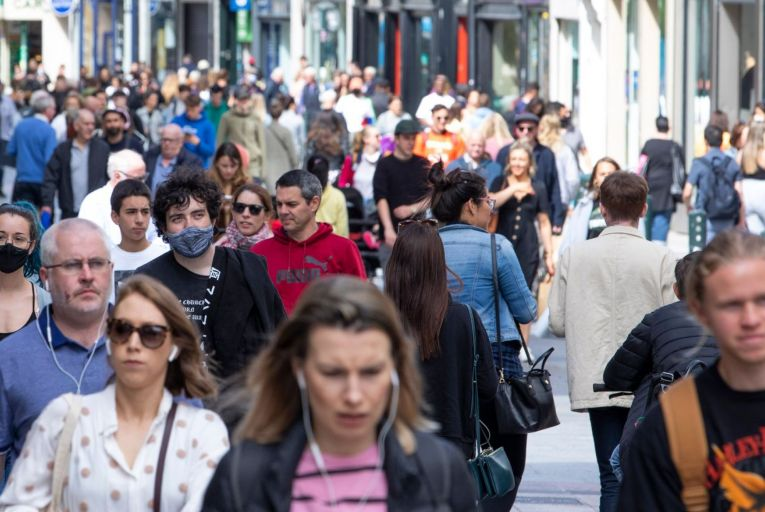 While it has been a good summer for the hospitality and retail sectors, Dublin city centre has been decimated by the lack of workers at their desks and the scarcity of tourists. Picture: Fergal Phillips