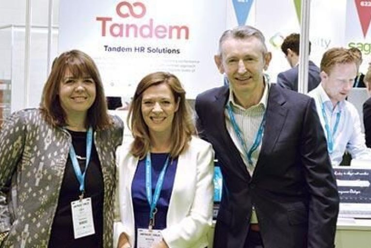 Clare Bonham, chief technical officer at Tandem, with Aisling Teillard, chief executive of Tandem, and Jim O'Brien, managing director at People Partners