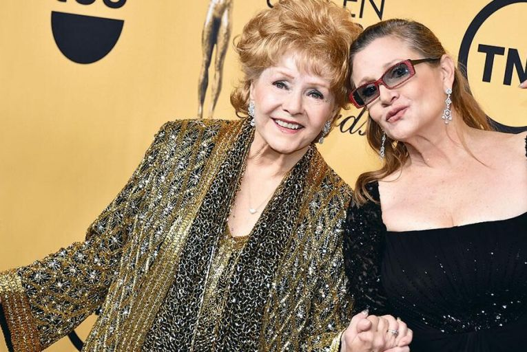 Debbie Reynolds and her daughter Carrie Fisher died one day apart Pic: Getty