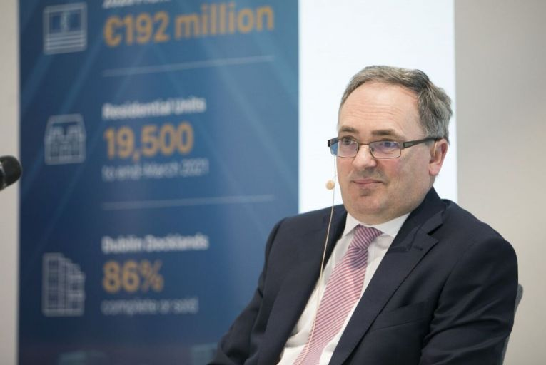 Brendan McDonagh, Nama chief executive, said the agency's tenth year in a row of profitability was delivered against a difficult backdrop. Picture: Getty