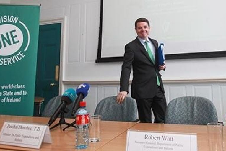 Fine Gael Minister for Public Expenditure and Reform Paschal Donohoe, at Department of Public Expenditure and Reform last week Pic: RollingNews.ie