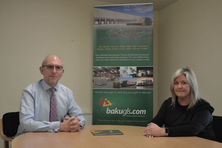 Michael Doyle, managing director, and Mary Mullins, business development manager, Baku