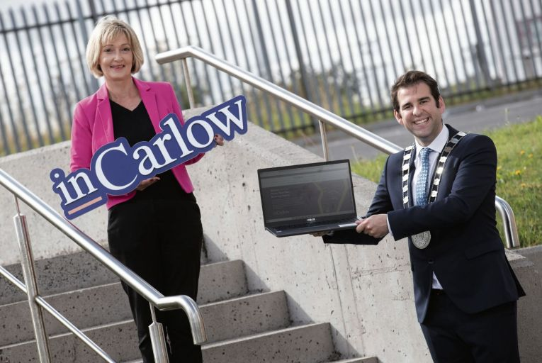 Mary Wynne of Carlow Community Enterprise Centres CLG, and Cllr Fintan Phelan, cathaoirleach, Carlow County Council: 'We have an ambitious plan for Co Carlow in terms of the development of a new suite of enterprise spaces'