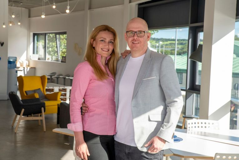 Wazp founders Mariana Kobal and Shane Hassett, whose company is based in Tralee and funded by €3.5m. Picture: Domnick Walsh