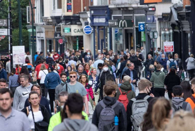 A busy Grafton Street in Dublin last September: if we are determined to get the domestic economy going this summer, the state is going to have to go on a splurge itself to help it along