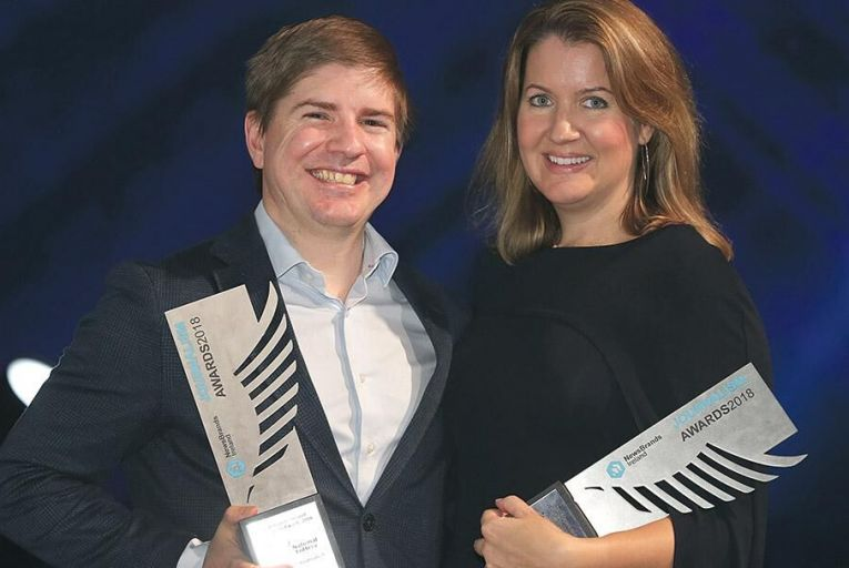 Tom Lyons and Susan Mitchell at the Journalism Awards