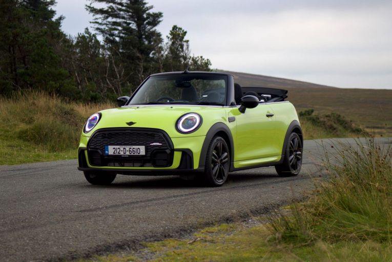 The new Mini Cooper Convertible in the new Zesty Yellow shade now available