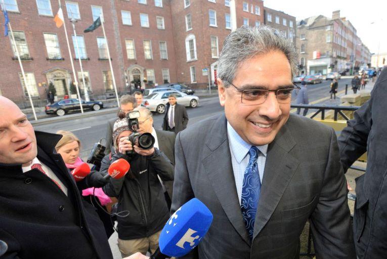 Deputy Director of the European Department of the International Monetary Fund (IMF), Ajai Chopra arrives in Dublin back in 2012