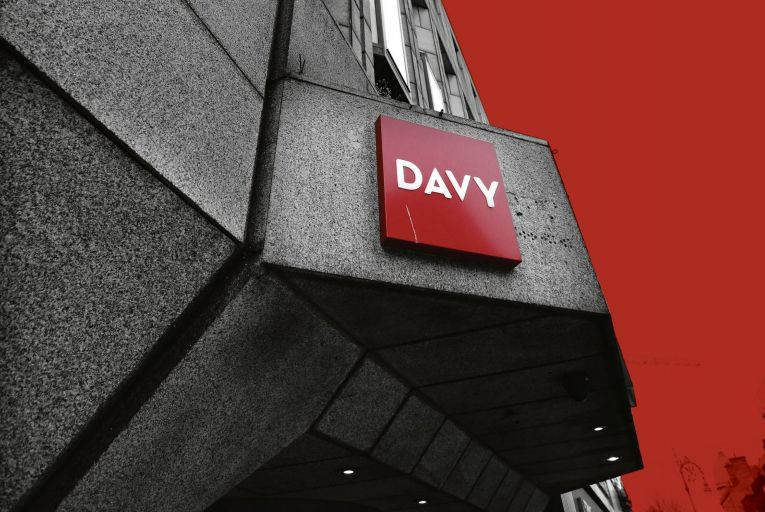 Davy Stockbrokers on Dawson Street in Dublin 2: the company was fined a record €4.1 million by the Central Bank after the regulator found that the firm had been in breach of market rules over a now notorious bond deal from 2014.