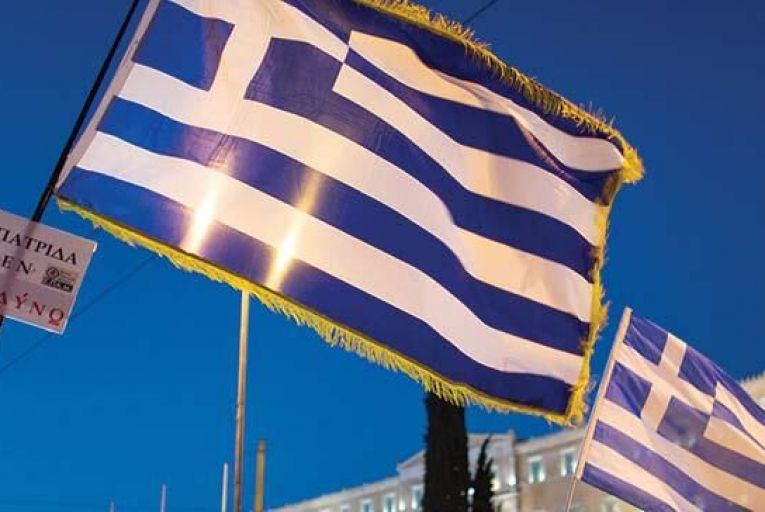 Thousands of people demonstrate in Athens against the EU-imposed Vat increase on products and services. PICTURE: AP