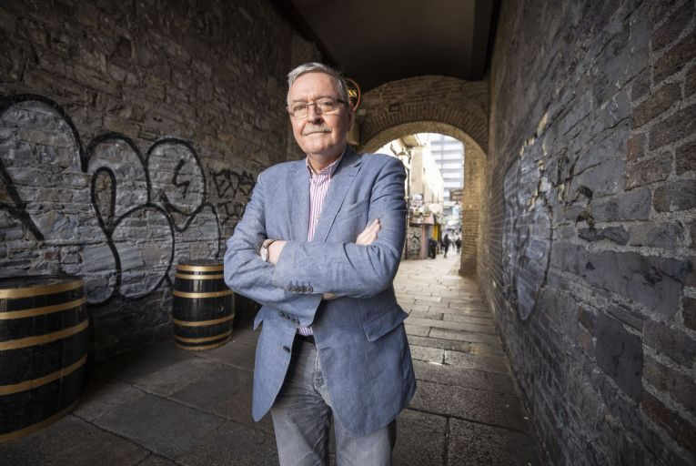 Frank McDonald at Merchant's Arch, Temple Bar: preparing to file a judicial review against plans to build a new hotel beside the arch. Picture: Fergal Phillips