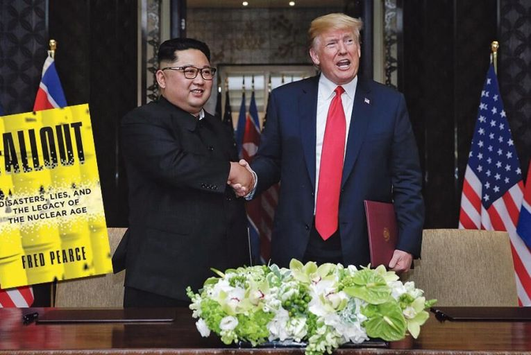 Kim Jong-un meets Donald Trump at their summit in Singapore last week Pic: Getty