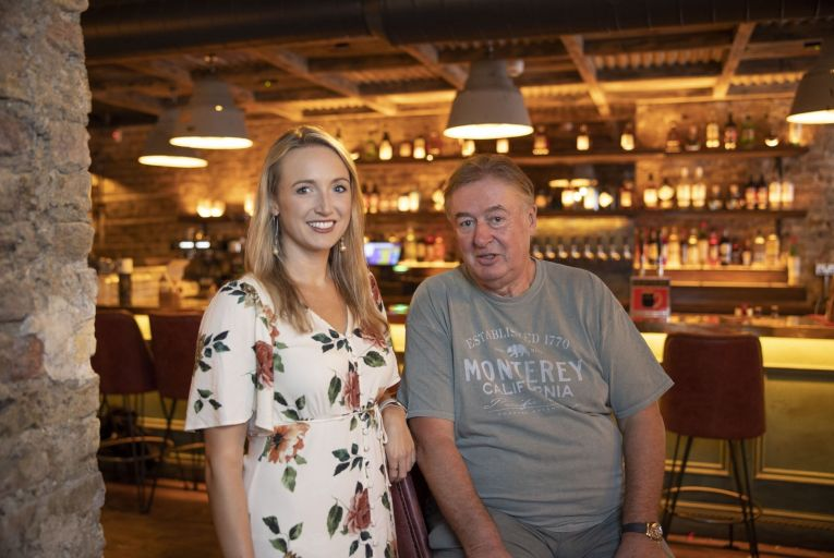 David L'Estrange, owner of the Dockers Pub, with his daughter Jill, who designed the revamped interior. Picture: Fergal Phillips