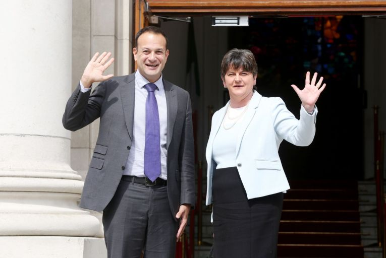 Taoiseach Leo Varadkar and Arlene Foster, the North's First Minister: their two administrations have had to work closely together in the fight against Covid-19