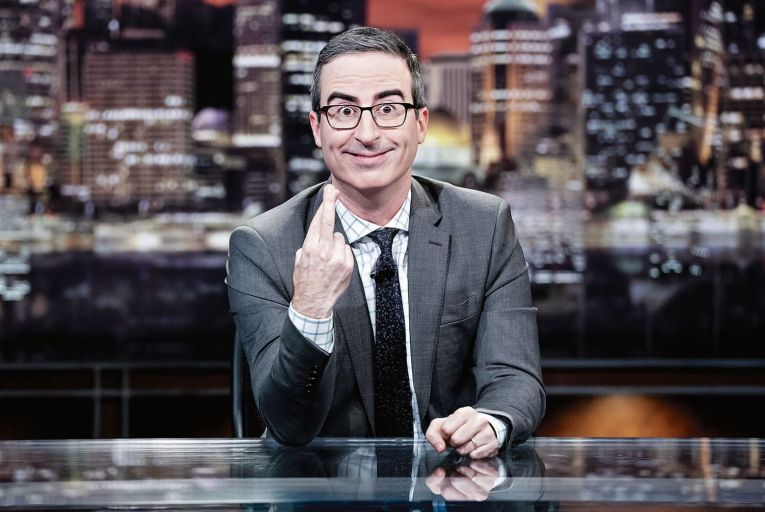 John Oliver hosts this comedy series that takes a satirical look at the week in news, politics and current events.