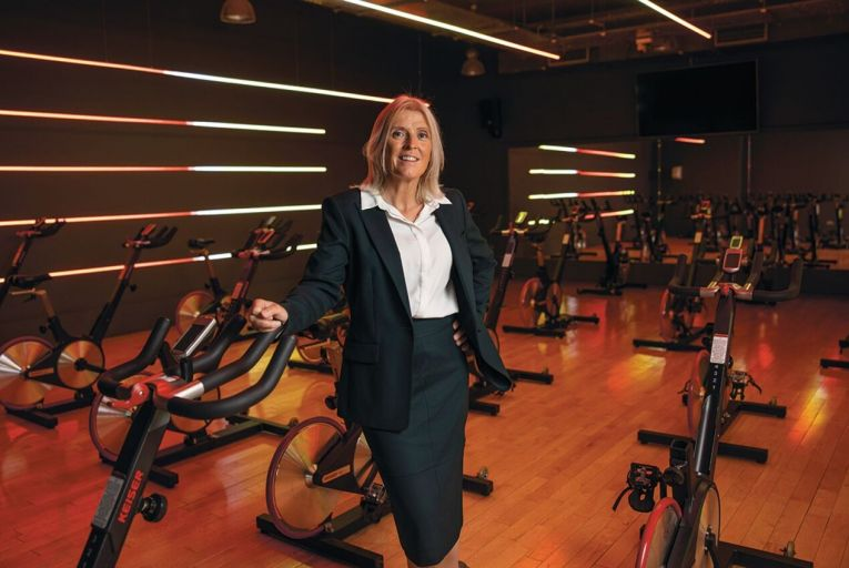 Sandra Dunne, managing director of Gym Plus: 'We decided to do upskilling and help our instructors go online, and do health and safety training, and hone our skills for providing great online classes.' Picture: Fergal Phillips