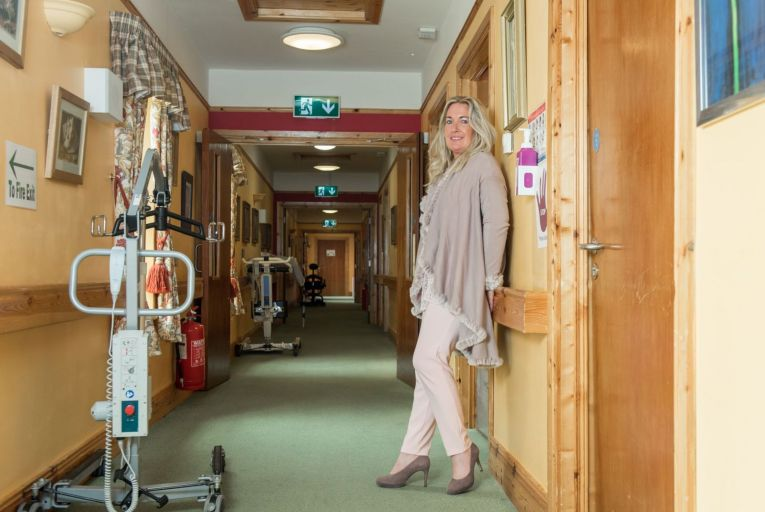 Amanda Torrens founder of Brindley Healthcare photographed in the Mill Lane Manor care home in Kildare