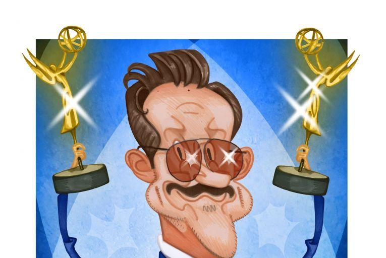 Jason Sudeikis, winner of an Emmy award for Ted Lasso. Illustration: Peter Hanan