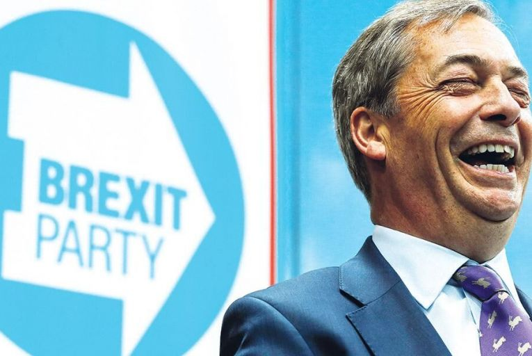 Nigel Farage: his new Brexit party is already leading the Conservatives in polls